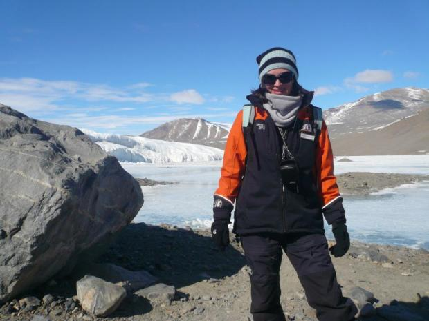 Rebecca Priestley, 2011, Taylor Valley. Rebecca's first visit to Antarctica was on Antarctica New Zealand's invited media programme. She wrote a series of blog posts, several articles for The New Zealand Listener, and gathered material for an anthology of Antarctic Science that will published by Awa Press in 2015.
